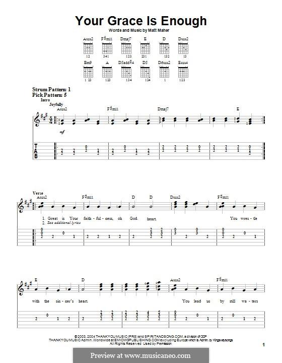 Your Grace is Enough: Für Gitarre mit Tabulatur by Matt Maher