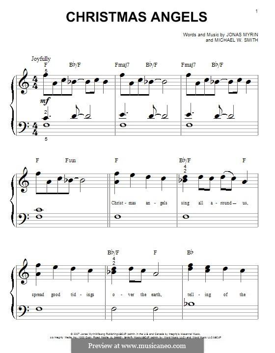 Christmas Angels: Für Klavier by Jonas Myrin, Michael W. Smith