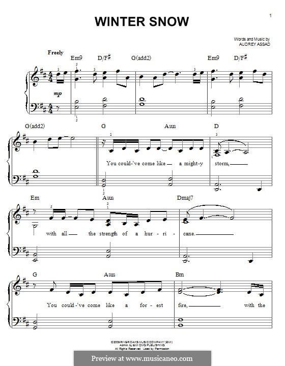 Winter Snow: Für Klavier by Chris Tomlin