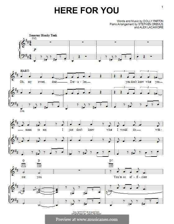 Here for You: Für Stimme und Klavier (oder Gitarre) by Dolly Parton