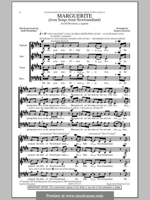 Marguerite: Für gemischten Chor by folklore