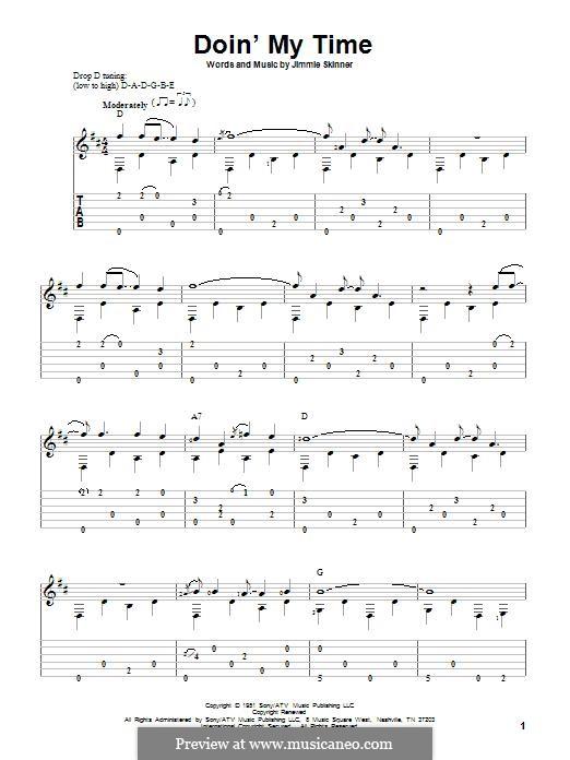Doin' My Time: Für Gitarre mit Tabulatur by Jimmie Skinner