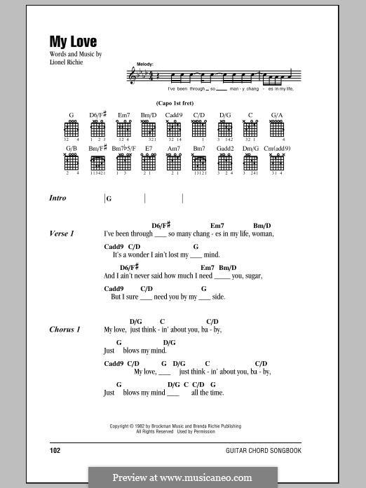 My Love: Text und Akkorde by Lionel Richie