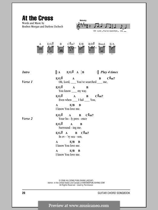 At the Cross: Text und Akkorde by Darlene Zschech, Reuben Morgan