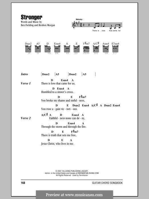 Stronger: Text und Akkorde by Ben Fielding, Reuben Morgan