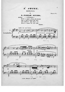 L'Adieu. Romance sans paroles, Op.68: L'Adieu. Romance sans paroles by Elias Parish-Alvars