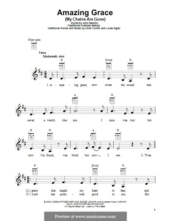 Amazing Grace (My Chains Are Gone): Für Ukulele by Chris Tomlin, Louie Giglio