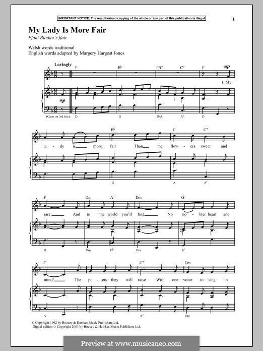 My Lady Is More Fair: Für Stimme und Klavier by folklore