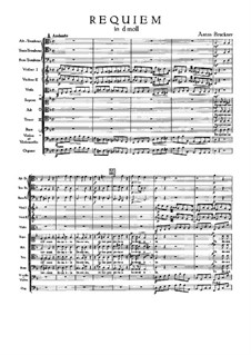 Requiem in d-Moll, WAB 39: Vollpartitur by Anton Bruckner