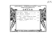 Bell-Rondo: Für Orgel by Giovanni Morandi