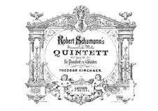 Klavierquintett in Es-Dur, Op.44: Version für Klavier, vierhändig by Robert Schumann