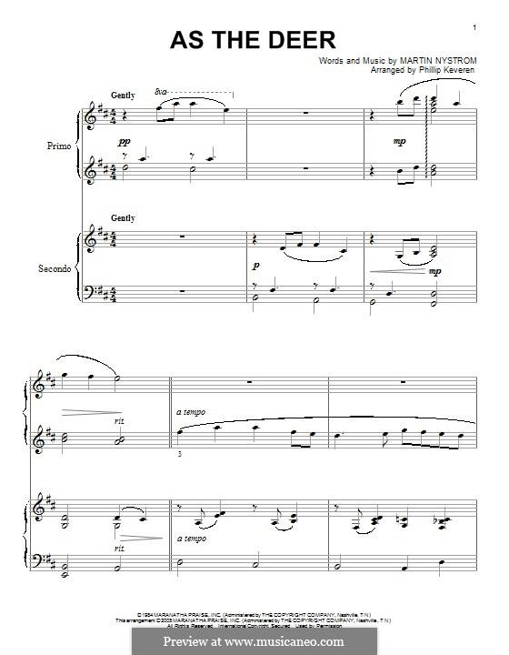 As the Deer: Für Klavier by Martin Nystrom