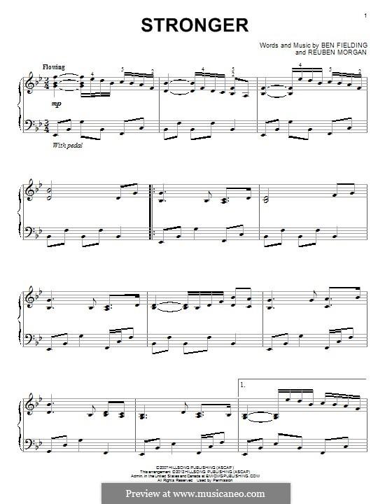 Stronger: Für Klavier by Ben Fielding, Reuben Morgan
