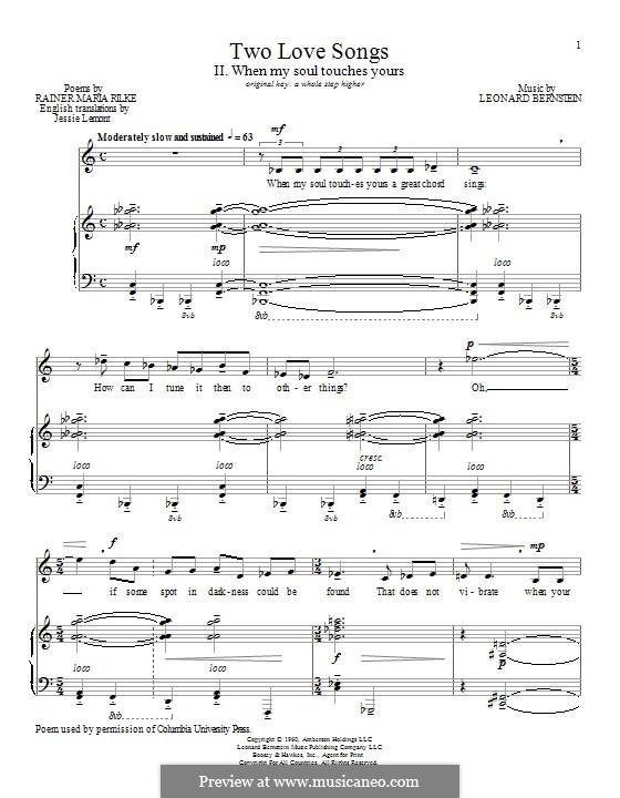 When My Soul Touches Yours: Für Stimme und Klavier by Leonard Bernstein