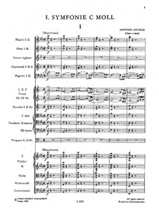 Sinfonie Nr.1 in c-Moll 'Die Glocken von Zlonice', B.9 Op.3: Teil I by Antonín Dvořák