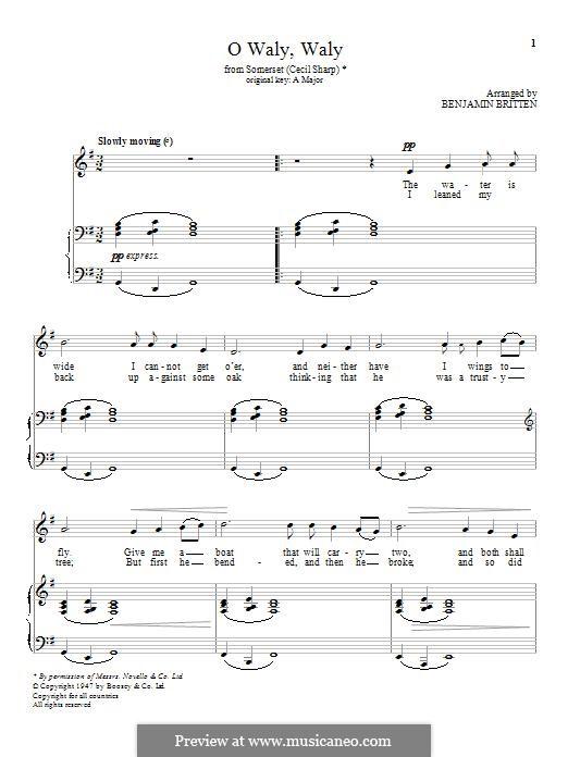 O Waly, Waly: Für Stimme und Klavier by folklore
