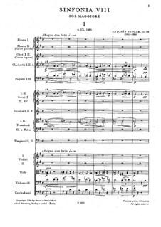 Teil I: Vollpartitur by Antonín Dvořák