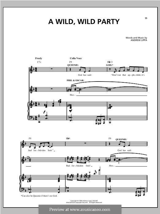 A Wild, Wild Party: Für Stimme und Klavier by Andrew Lippa