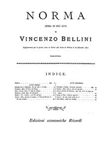 Complete Opera: Klavierauszug by Vincenzo Bellini