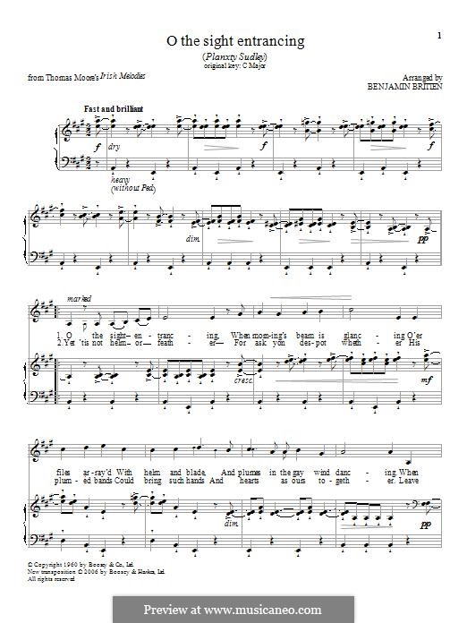 O the sight entrancing: Für Stimme und Klavier by folklore