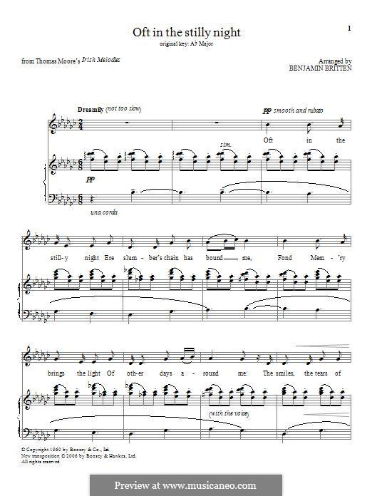 Oft in the Stilly Night: Für Stimme und Klavier by folklore