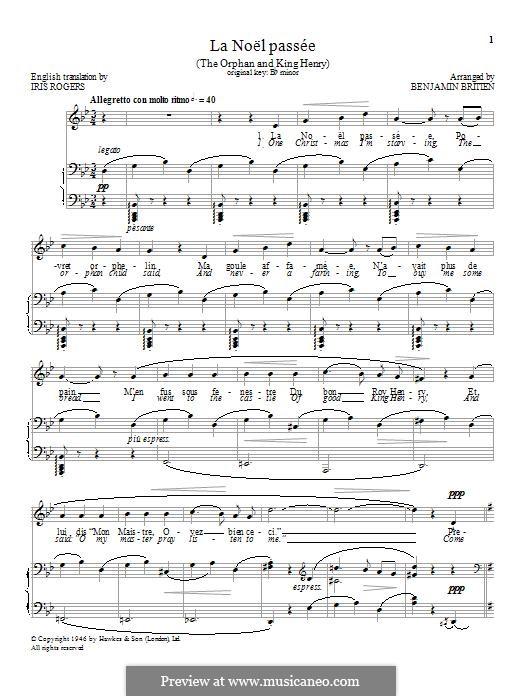 La Noël passée: Für Stimme und Klavier by folklore