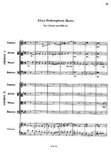 Alma Redemptoris Mater for Eight Voices: Alma Redemptoris Mater for Eight Voices by Tomás Luis de Victoria