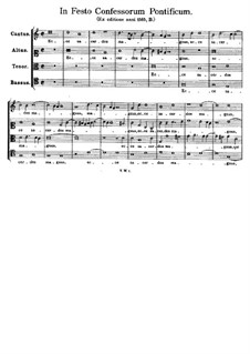 In Festo Confessorum Pontificum. Ecce sacerdos magnus: In Festo Confessorum Pontificum. Ecce sacerdos magnus by Tomás Luis de Victoria