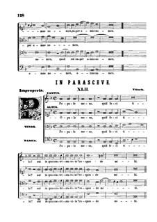 In Parasceve. Popule meus, quid feci tibi: In Parasceve. Popule meus, quid feci tibi by Tomás Luis de Victoria