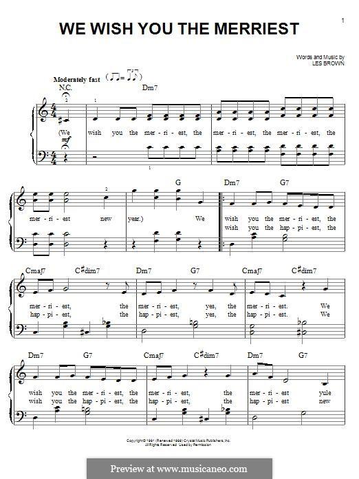 We Wish You the Merriest (Frank Sinatra): Für Klavier by Lester Brown