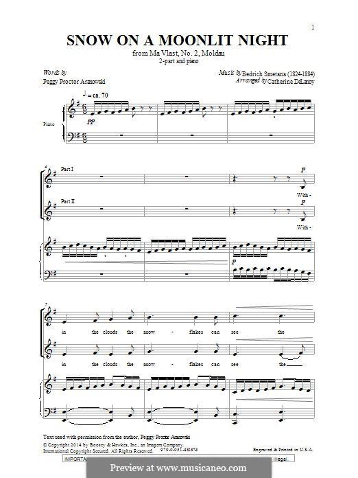 Snow on a Moonlit Night: Für gemischten Chor by Bedřich Smetana