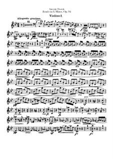 Rondo in g-Moll, B.181 Op.94: Violinstimme I-II by Antonín Dvořák