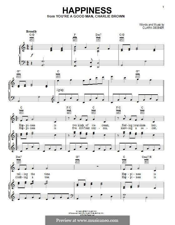 Happiness: Für Stimme und Klavier (oder Gitarre) by Clark Gesner