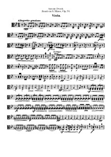 Rondo in g-Moll, B.181 Op.94: Violastimme by Antonín Dvořák