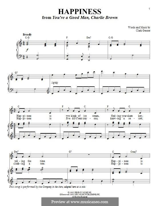 Happiness: Für Stimme und Klavier by Clark Gesner