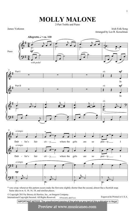 Molly Malone: Für gemischten Chor by folklore