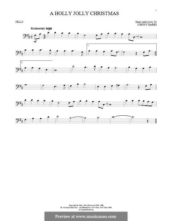 A Holly Jolly Christmas: Für Cello by Johnny Marks