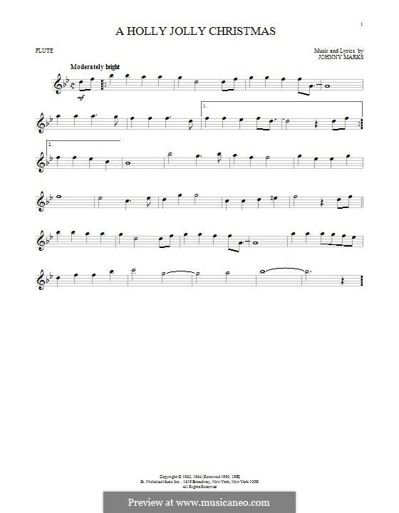 A Holly Jolly Christmas: Für Flöte by Johnny Marks