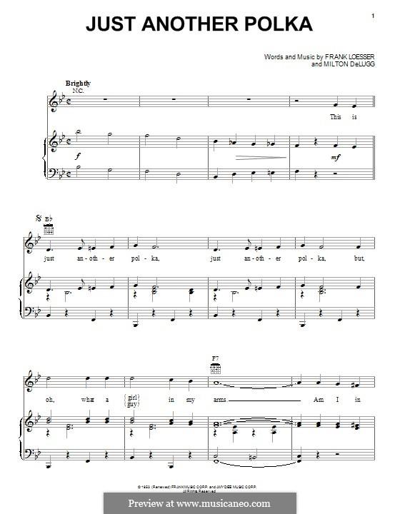 Just Another Polka: Für Stimme und Klavier (oder Gitarre) by Frank Loesser, Milton DeLugg