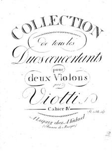 Drei Duos, Op.30: Für zwei Violinen – Stimmen by Giovanni Battista Viotti