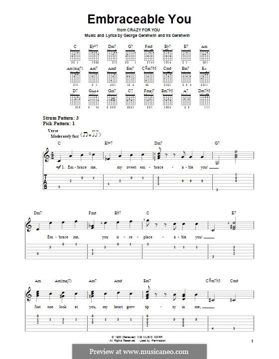 Embraceable You: Für Gitarre mit Tabulatur by George Gershwin