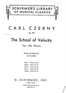 Schule der Geläufigkeit, Op.299: Übungen Nr.1-10 by Carl Czerny