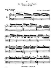 Schule der Geläufigkeit, Op.299: Übungen Nr.21-30 by Carl Czerny