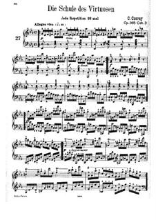 Die Schule des Virtuosen, Op.365: Übungen Nr.27-44 by Carl Czerny