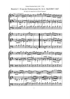 Orchestersuite Nr.2 in h-Moll, BWV 1067: Bourrée, für Orgel by Johann Sebastian Bach