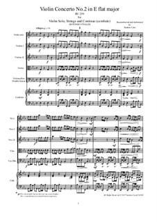Sechs Konzerte für Streicher, Op.6: Concerto No.2 in E Flat Major – score and all parts, RV 259 by Antonio Vivaldi