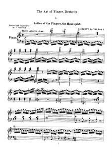 Die Kunst der Fingerfertigkeit, Op.740: Übungen Nr.1-8 by Carl Czerny