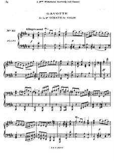 Partita für Violine Nr.3 in E-Dur, BWV 1006: Gavotte. Bearbeitung für die linke Hand by Johann Sebastian Bach