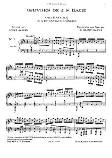 Wir danken dir, Gott, wir danken dir, BWV 29: Ouvertüre, für Klavier by Johann Sebastian Bach