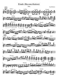 Etude Reconciliation, Op.1: Etude Reconciliation by Ivan Borisov